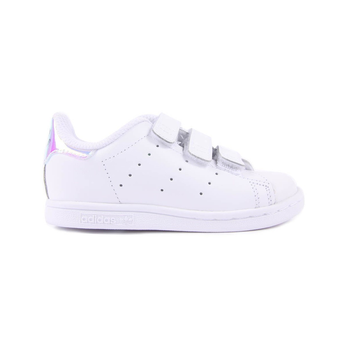 Basket Stan Smith 3 velcros blanc/irisé
