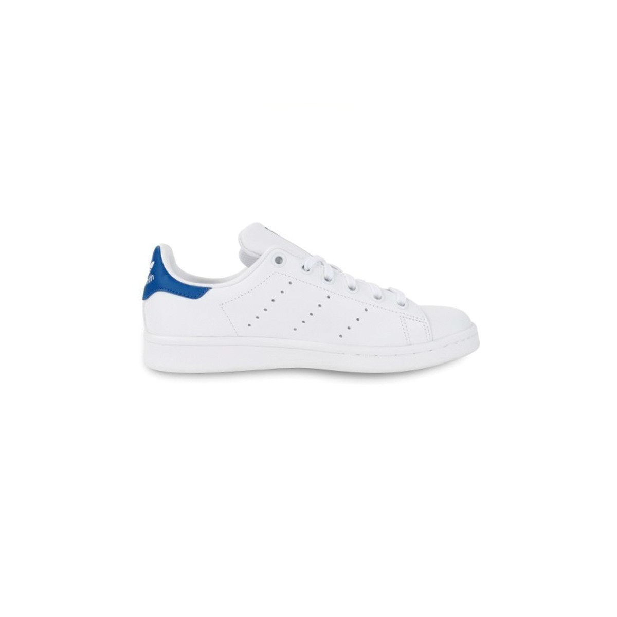 Basket Stan Smith lacets blanc/bleu