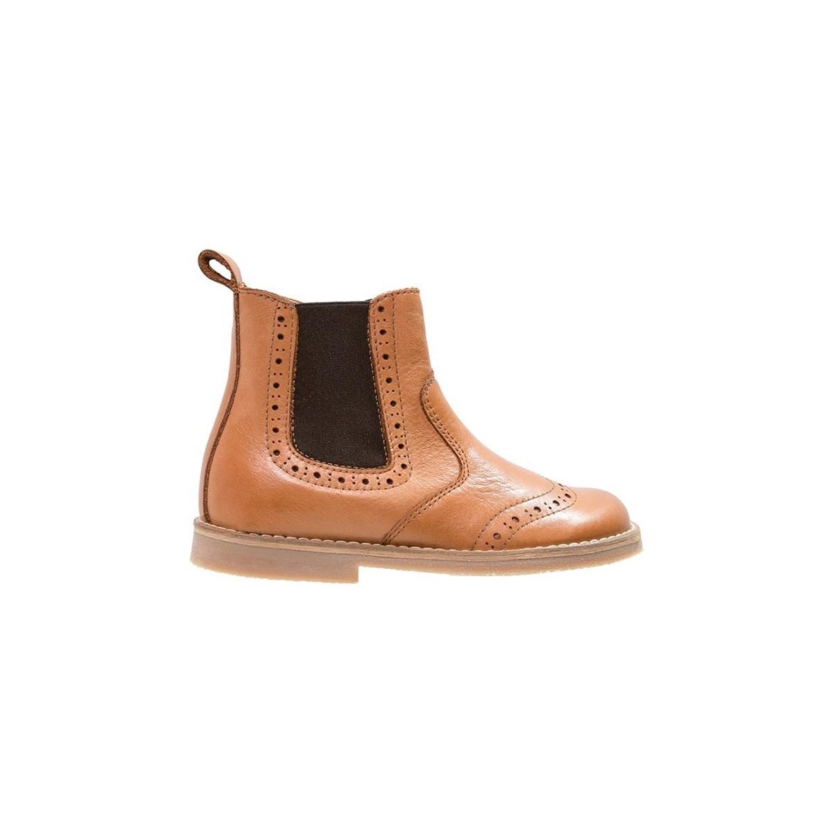 Boots élastique camel