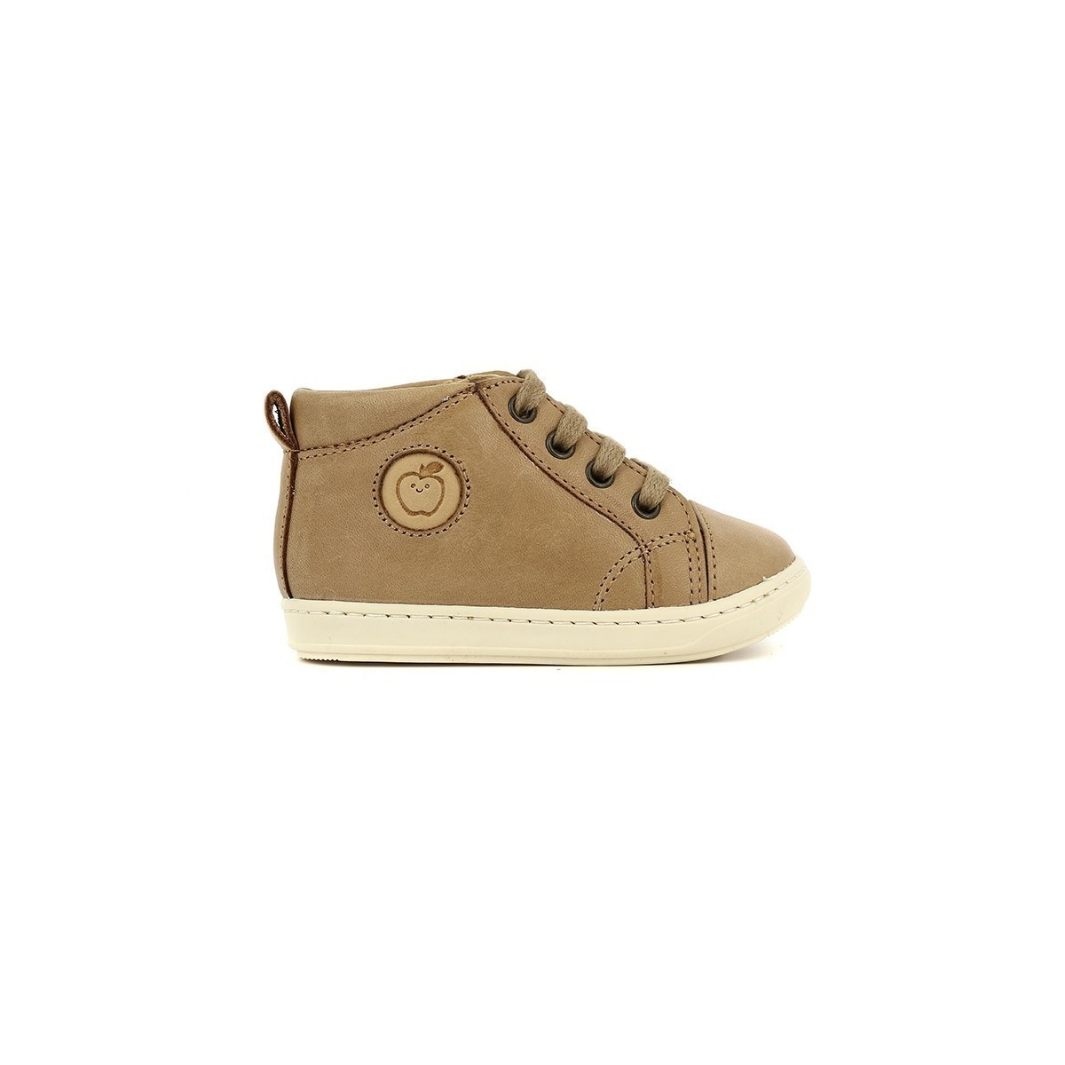 Bottine Bouba lacets cuir camel