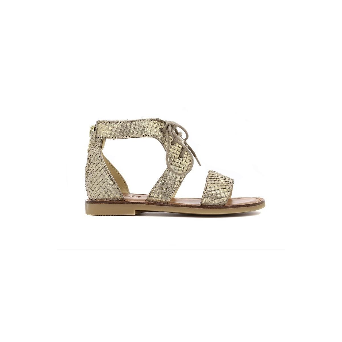 Sandale Lazar Haute Zip Or