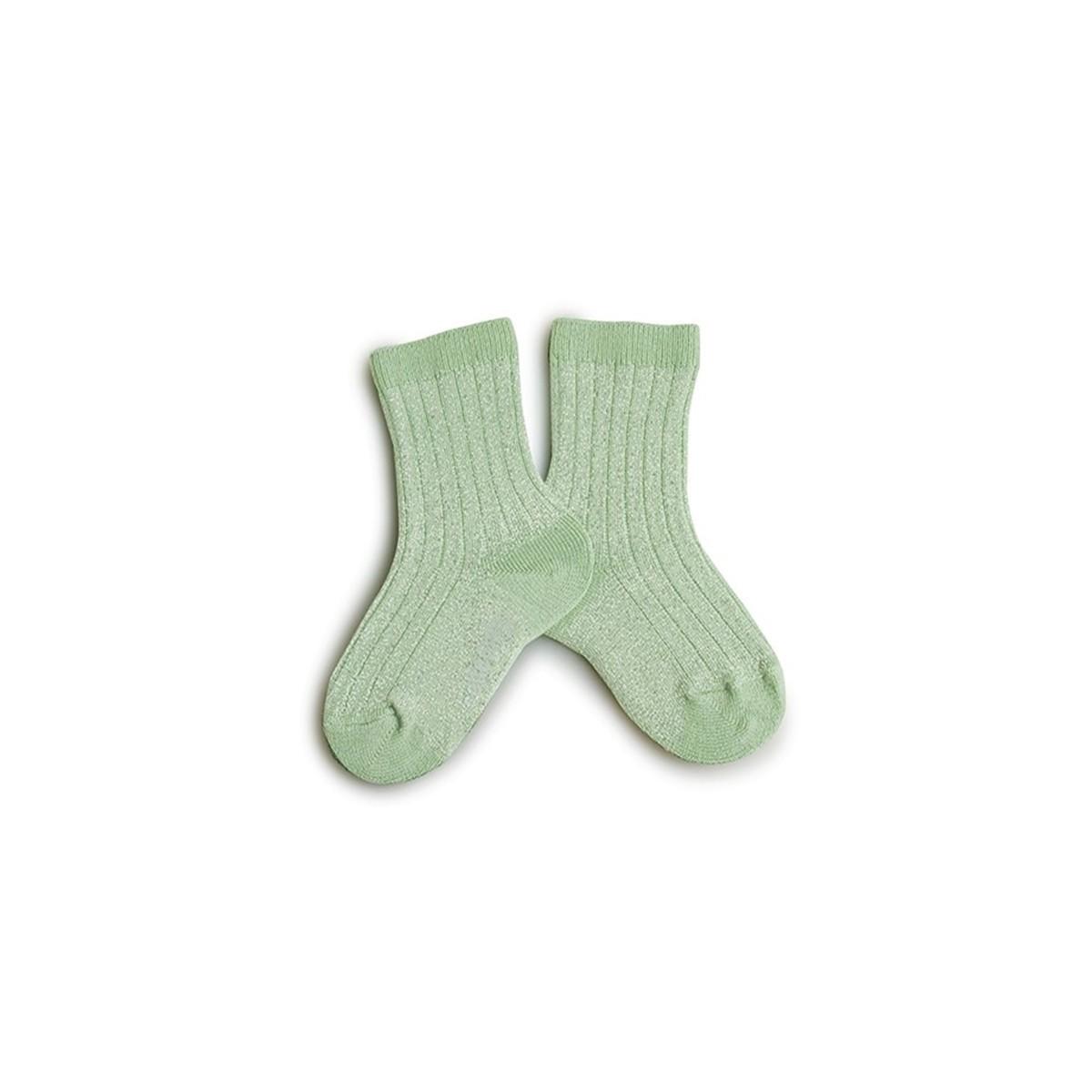 Mi chaussettes brillantes Vert Tileul