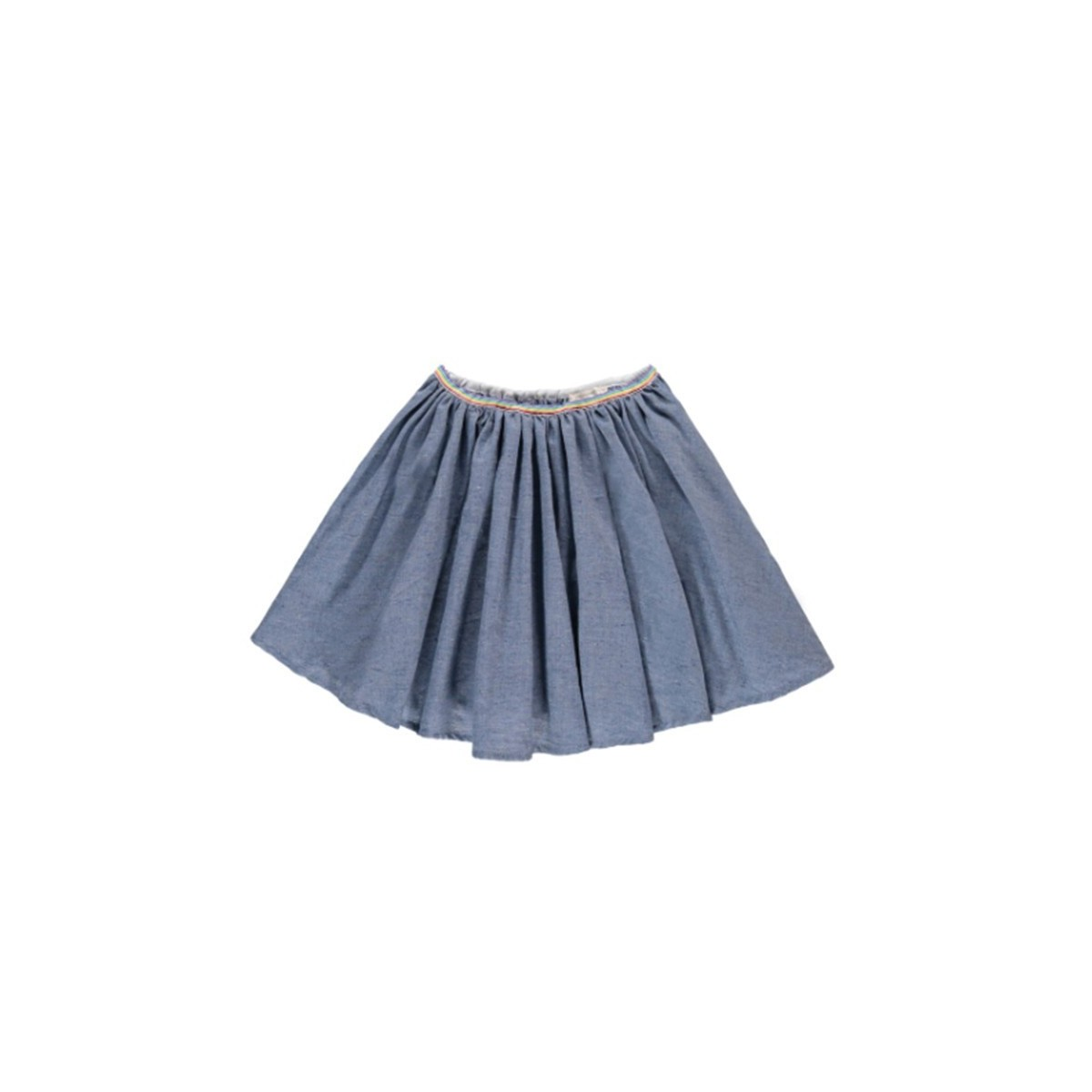 Jupe Chambray Bleu Chiné