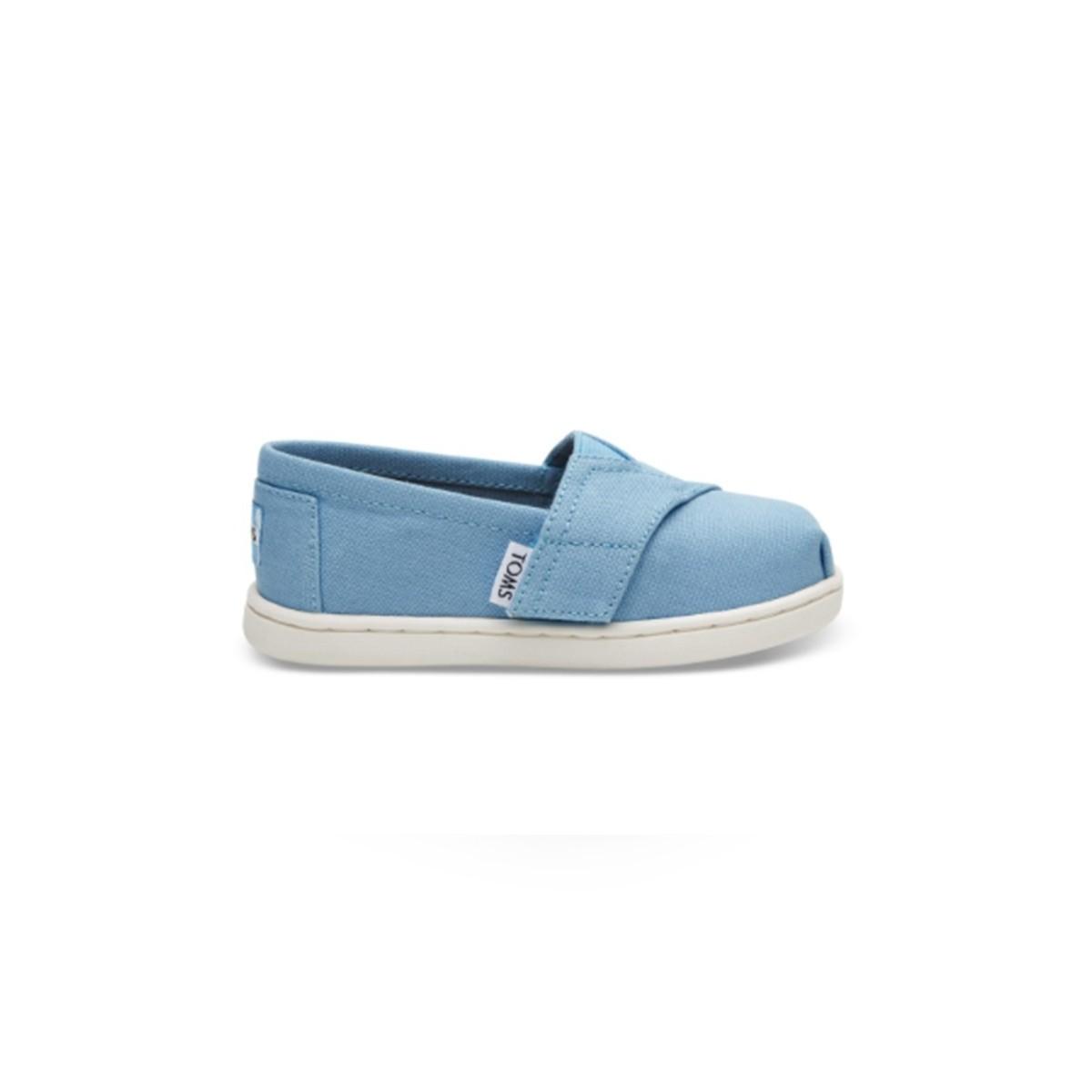 Chaussure toile bleu ciel velcro kids