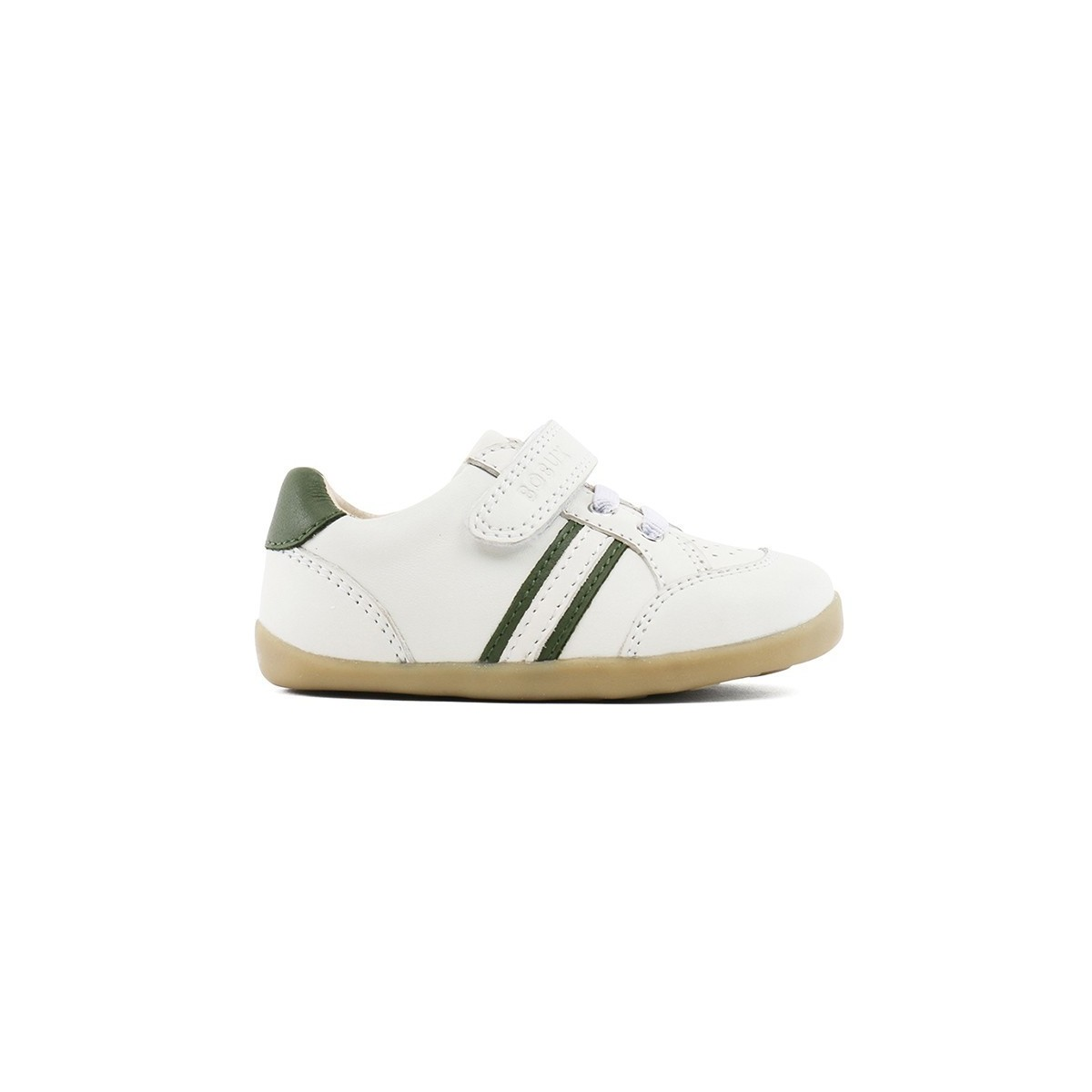 Step up basket basse en cuir blanc/vert
