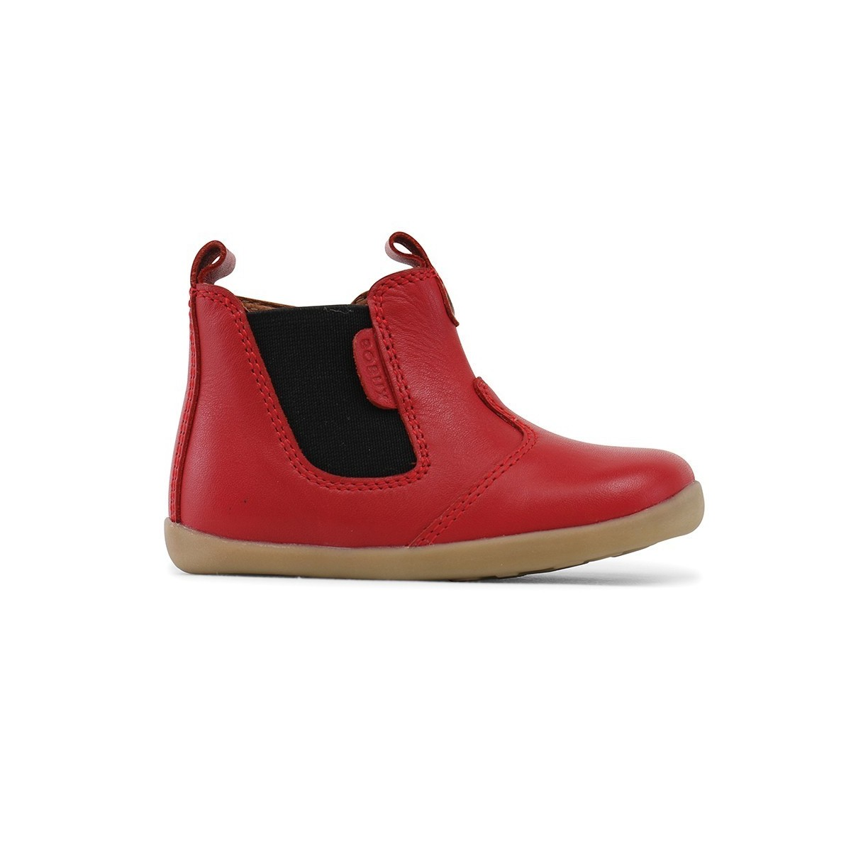 Boots Step-up Jodphur cuir rouge