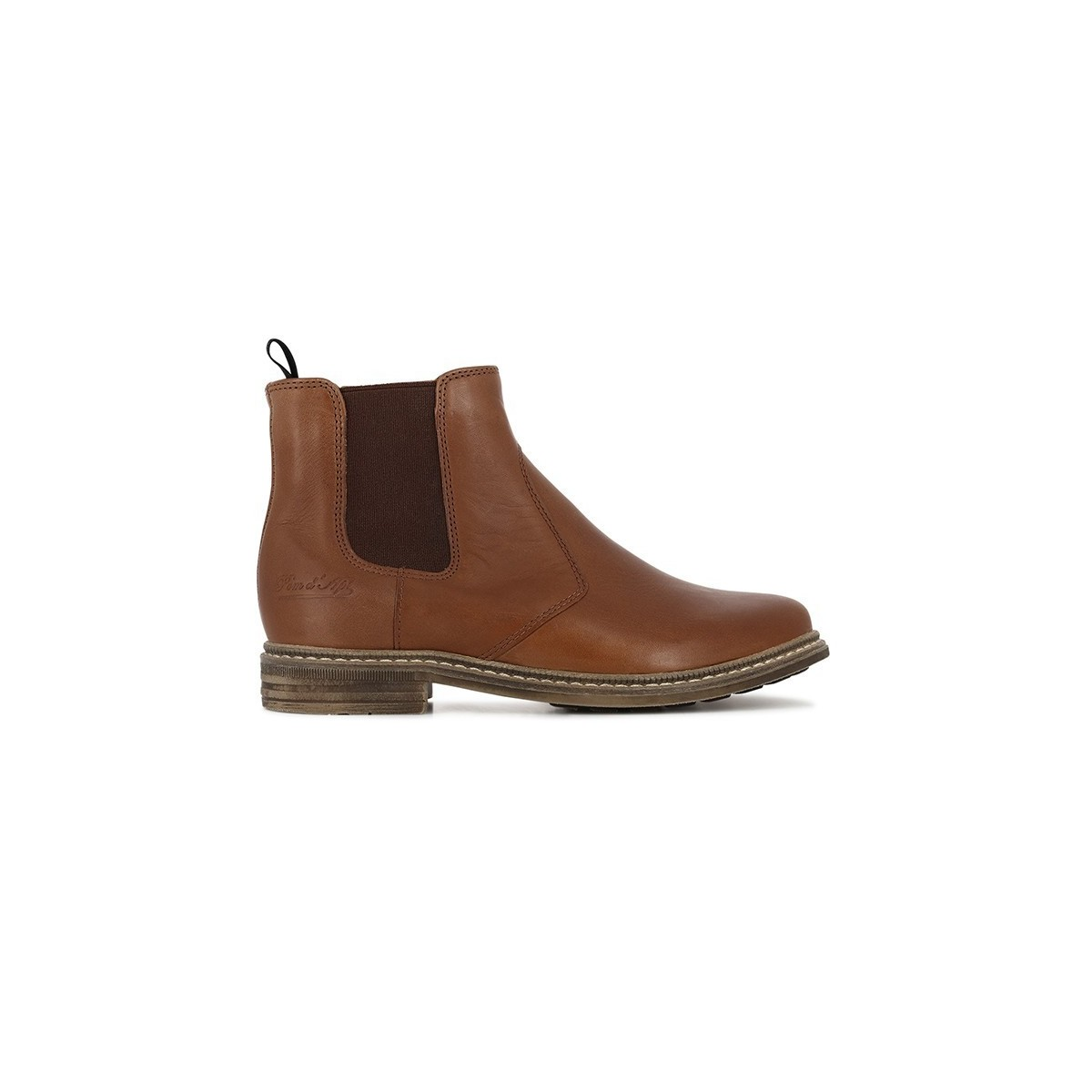 Boots Brother cuir camel