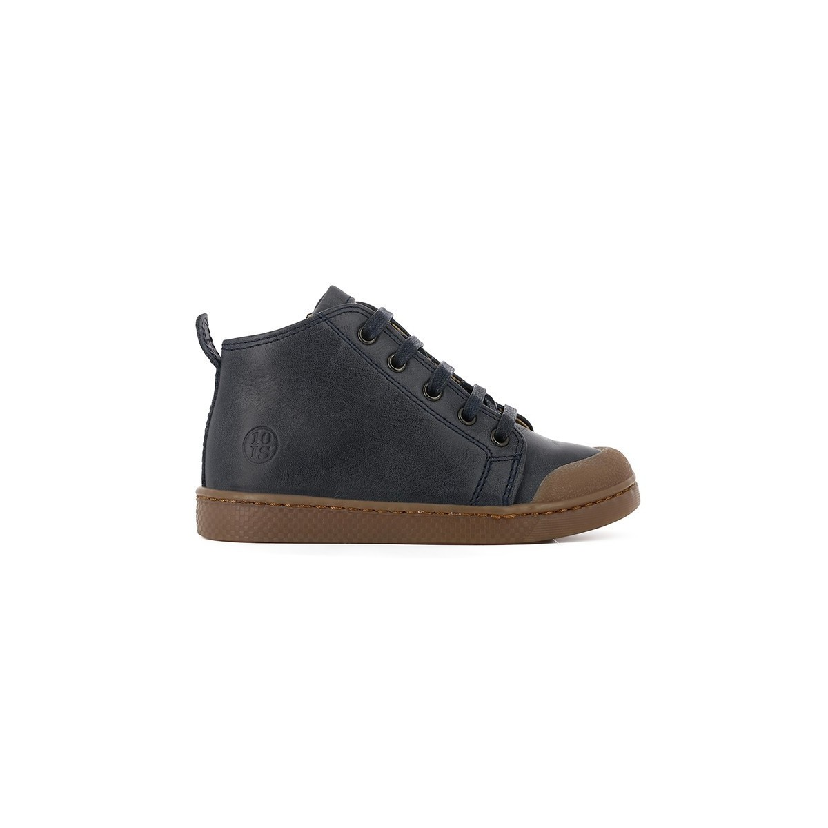Basket Ten C Mid Lace 1 zip cuir marine