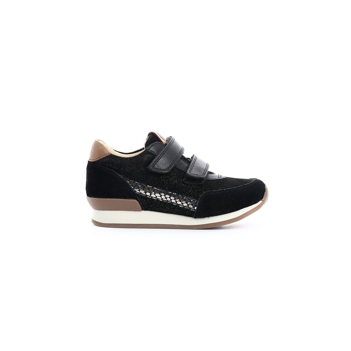 Basket Ten Jog cuir Noir & or