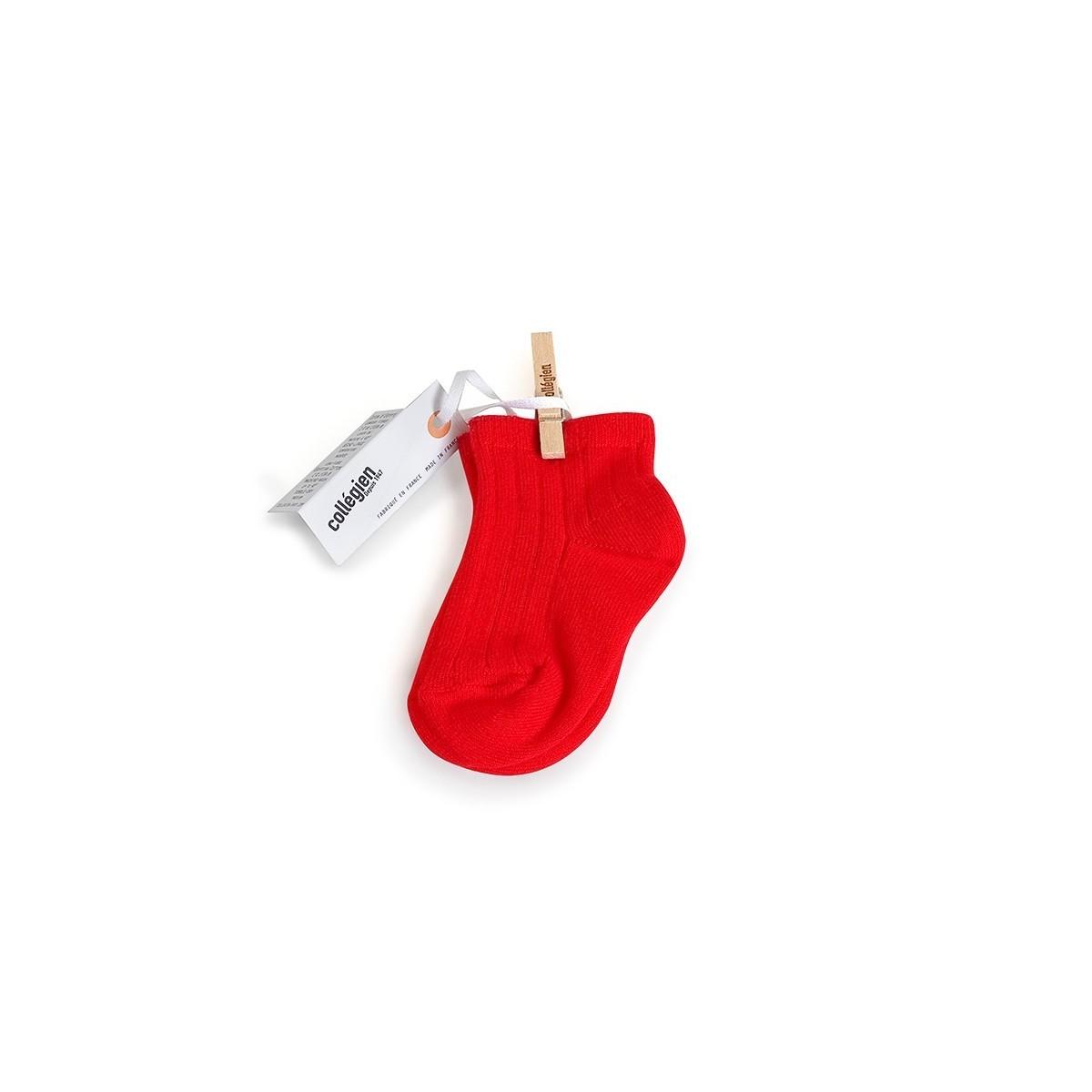 Chaussette courte à côte Vrai rouge