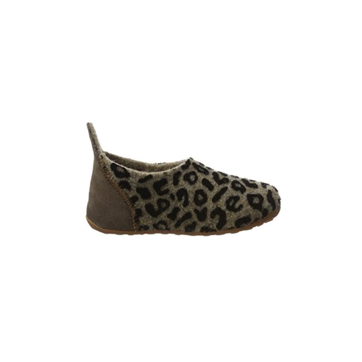 Chausson en laine Leopard