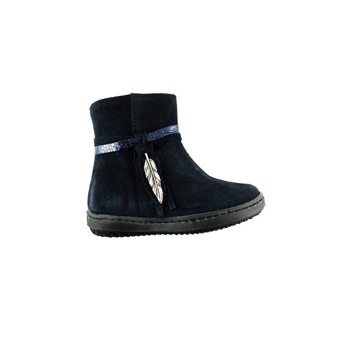 Boots Fuzzy peau marine
