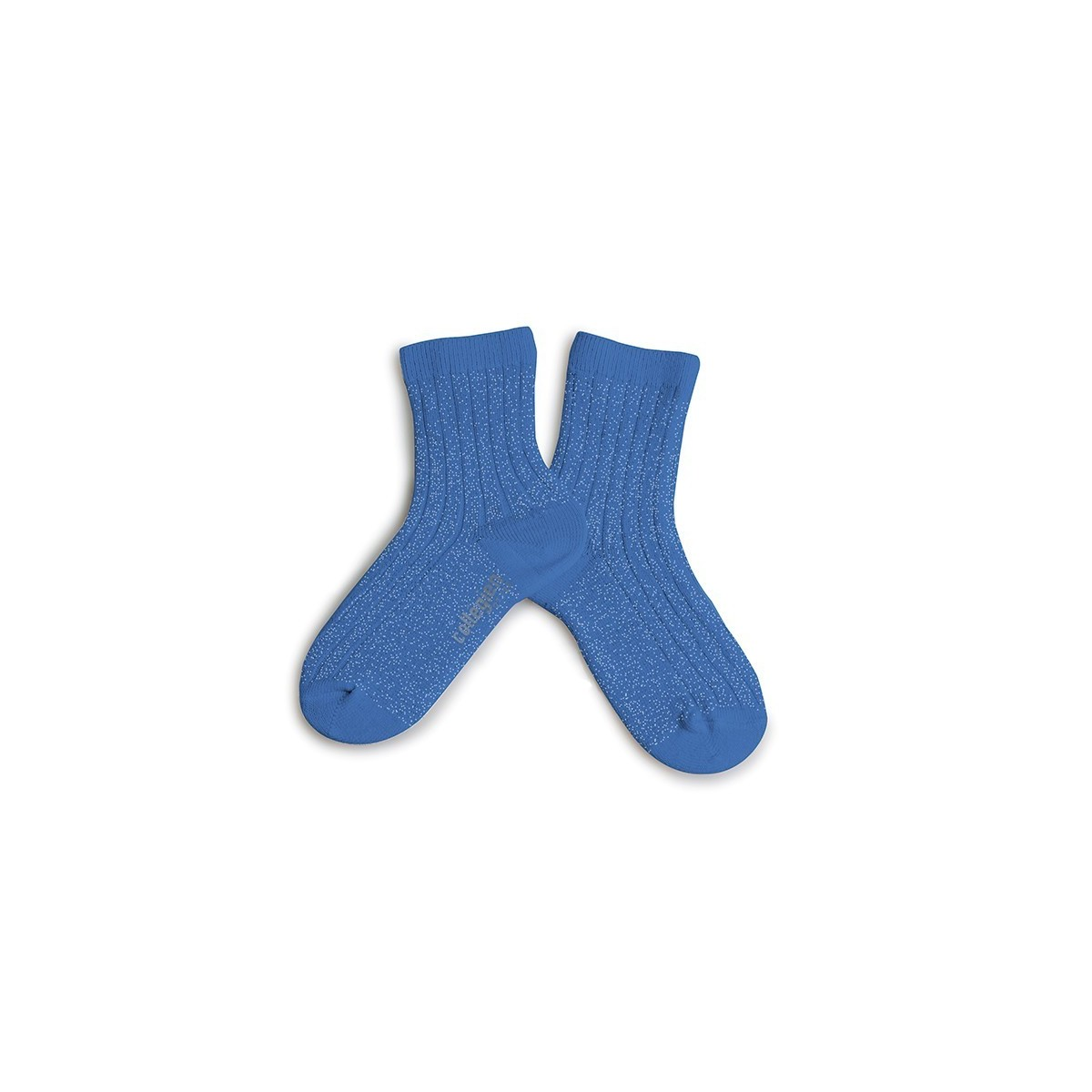 Chaussette à côte Lurex Bleu Cobalt