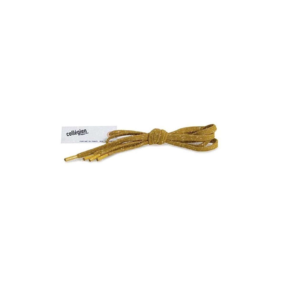 Lacets Plats brillant Moutarde de Dijon 110cm
