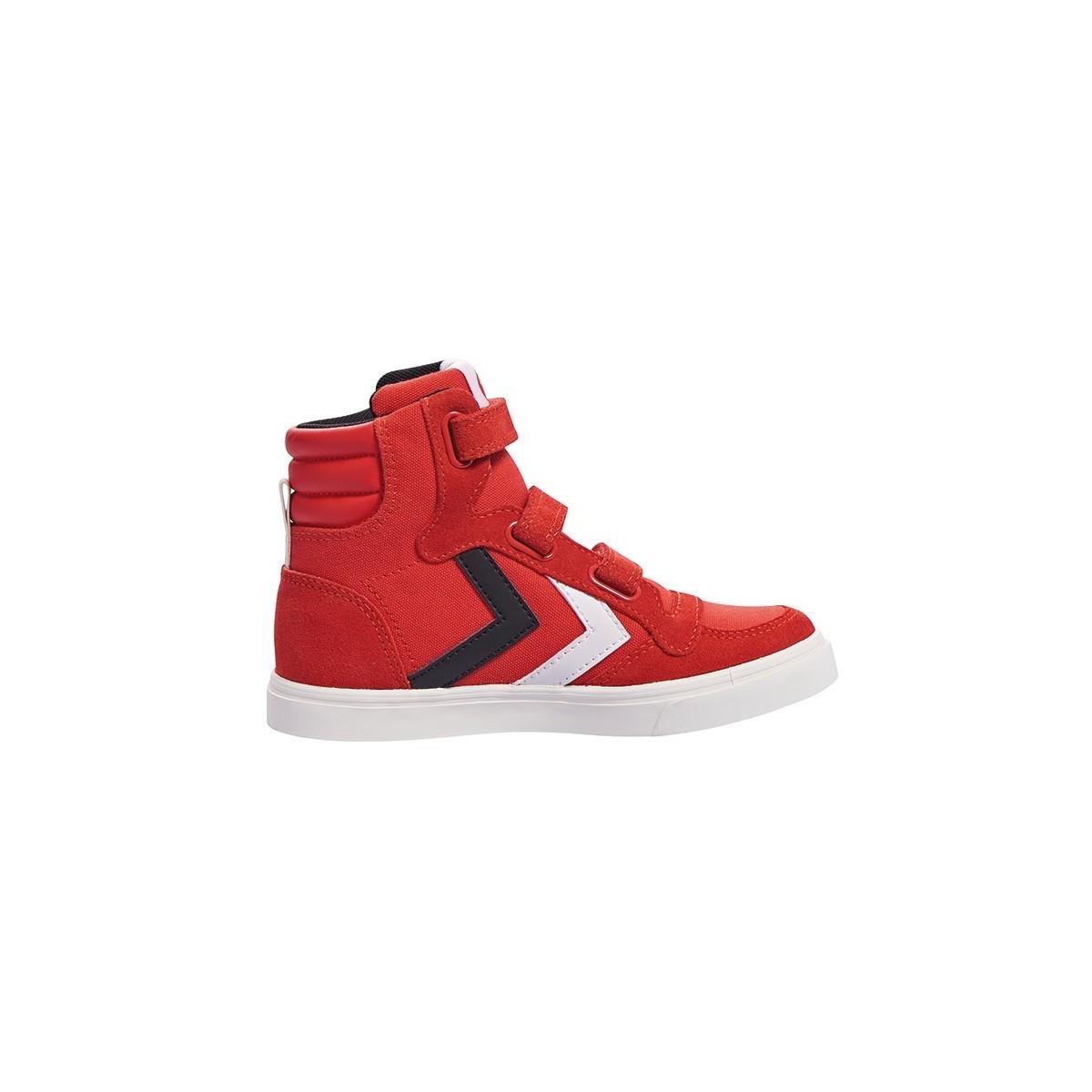 Basket haute Stadil canevas red