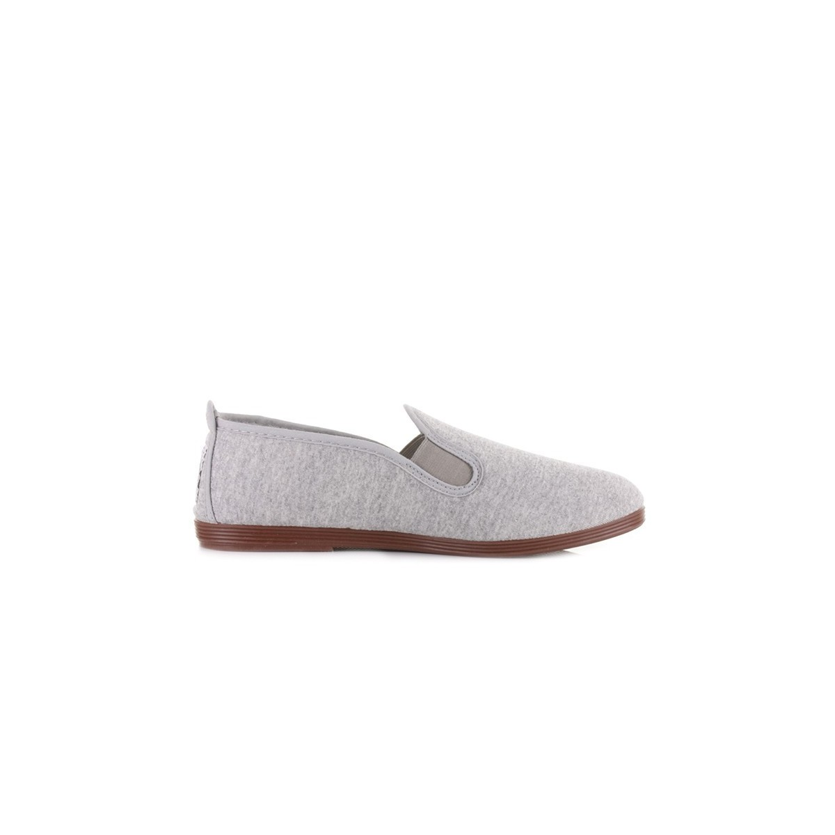 Chausson Flossy toile gris chiné
