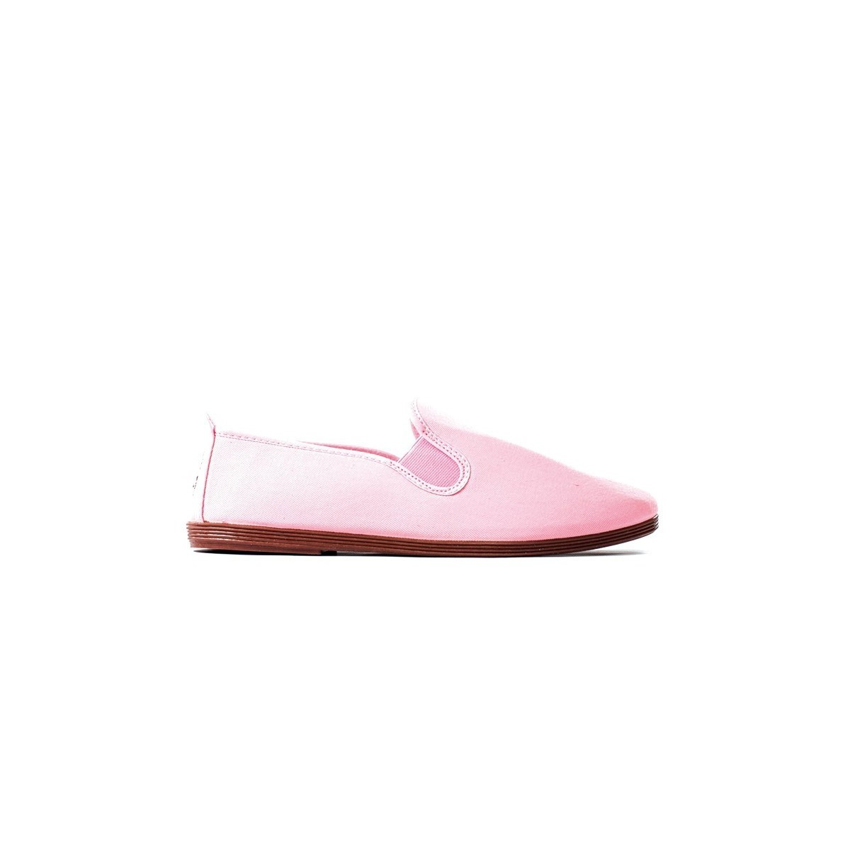 Chausson Flossy toile rose