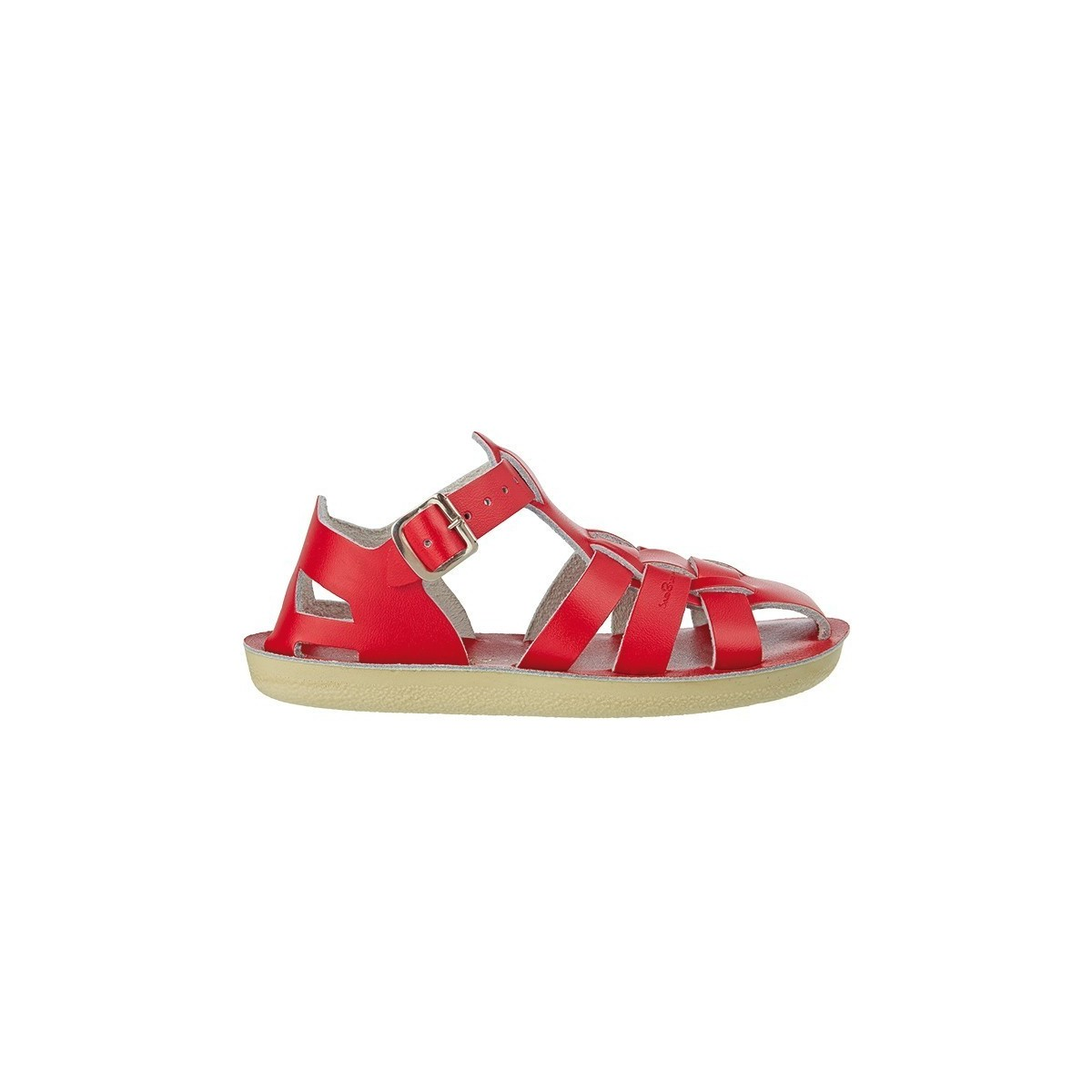 Salt water Shark cuir rouge