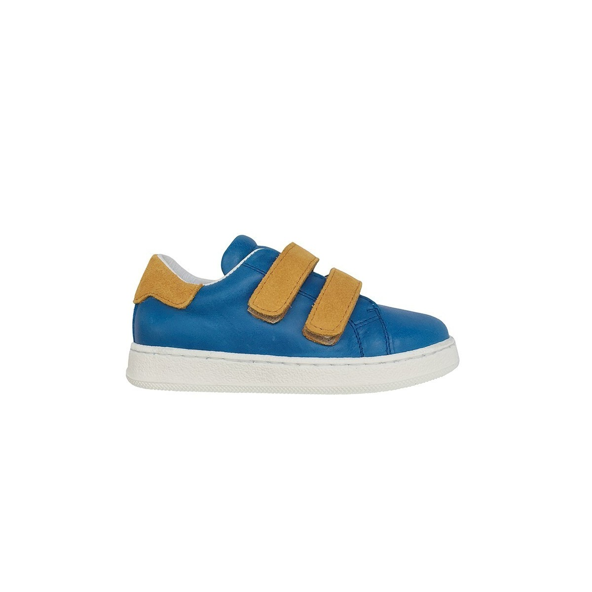 Baskets MoonWalk Blue/nubuck moutarde
