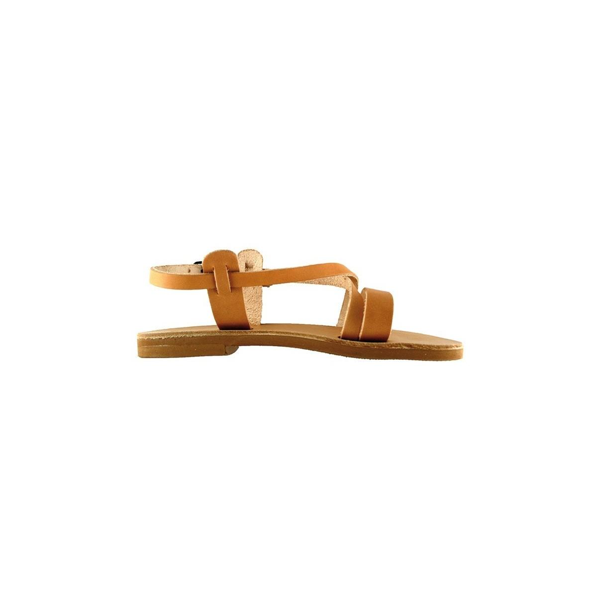 Sandales grecques Amorgos cuir naturel