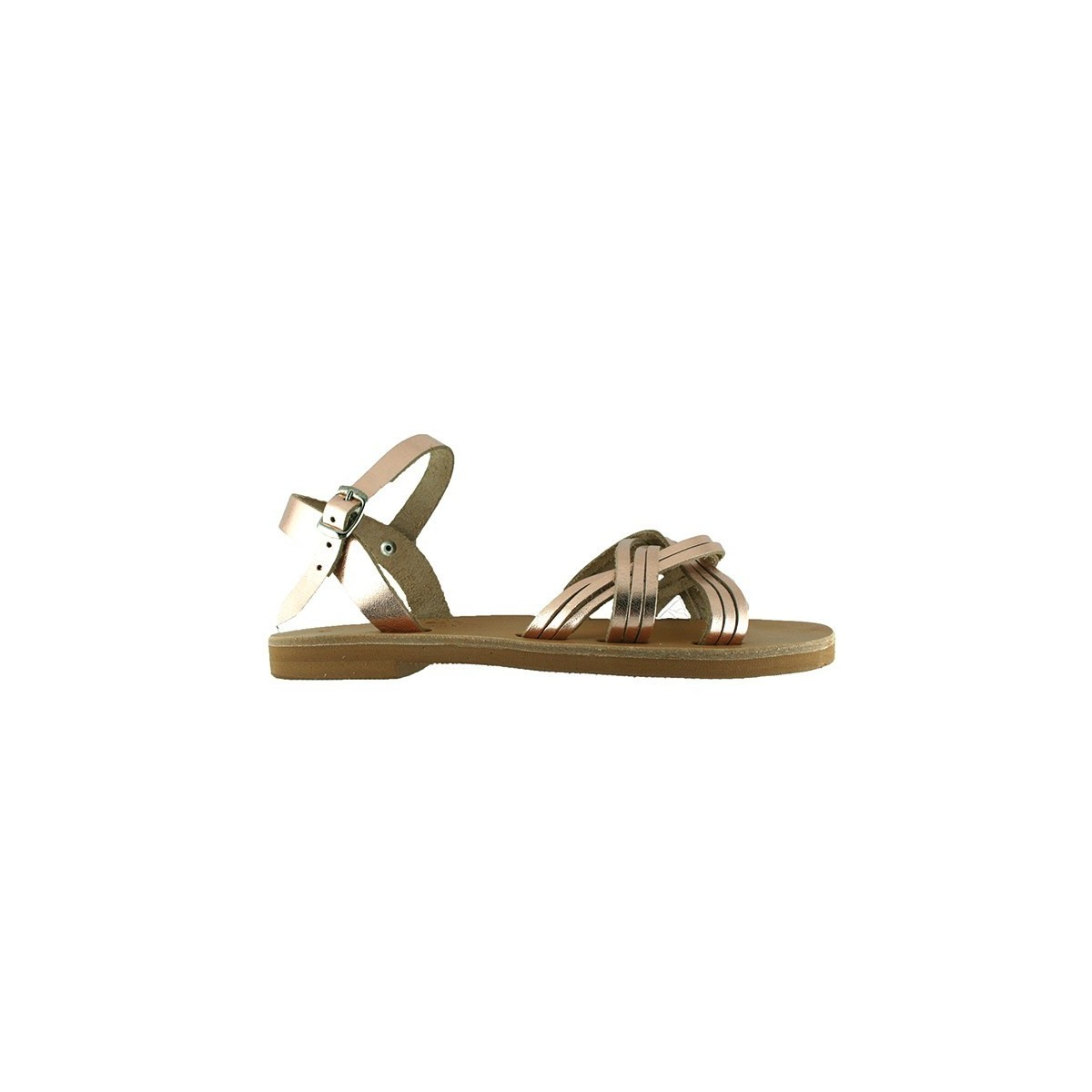 Sandales grecques Kea cuir bronze