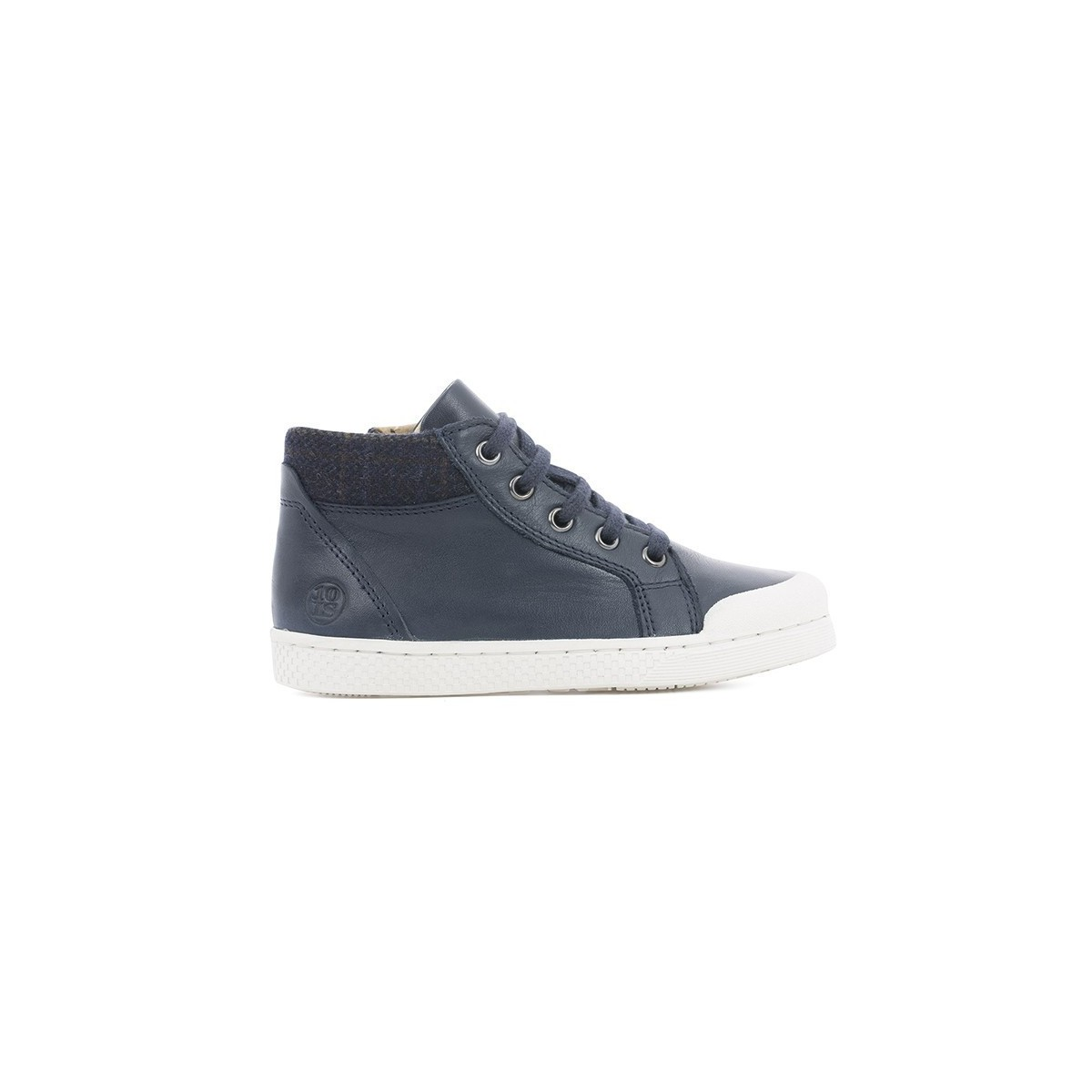 Basket montante lacets/zip navy