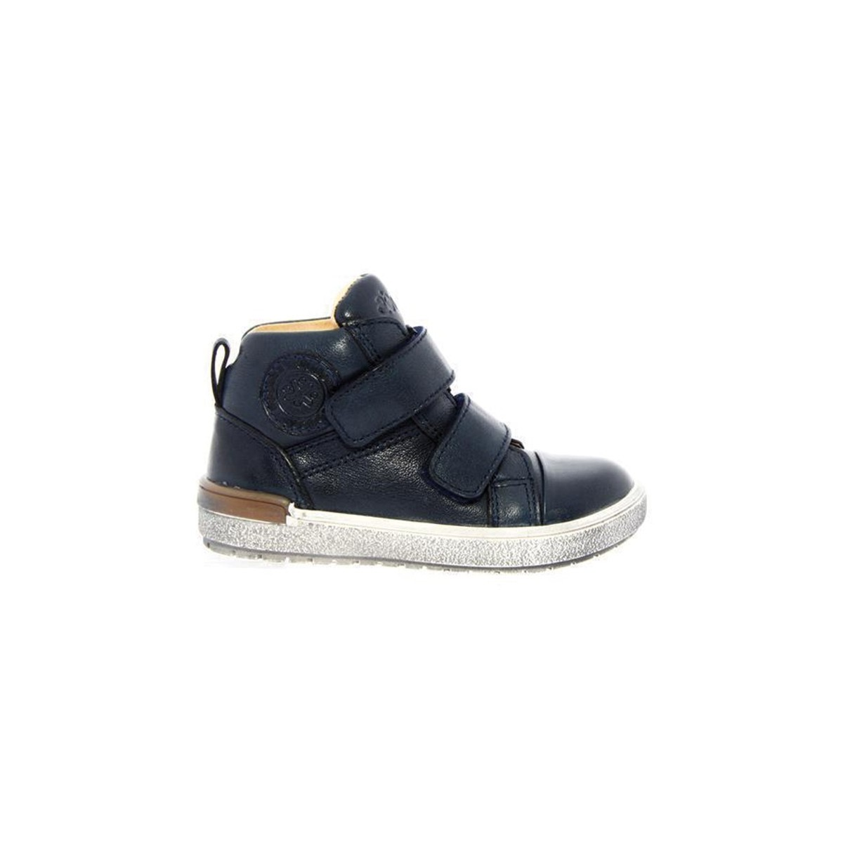 Chaussures Acebos montante 3 velcros cuir marine