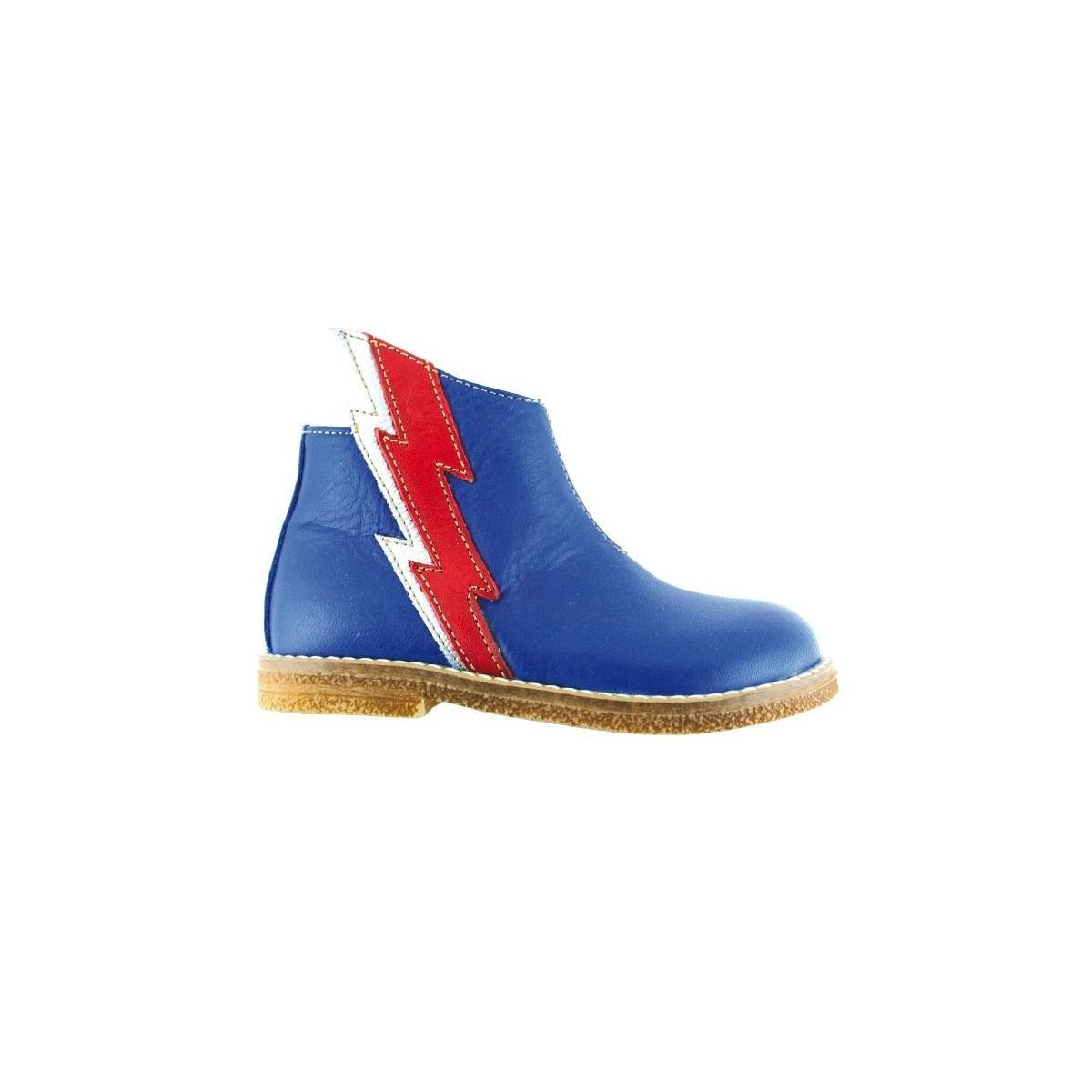 Boots éclair bleu/rouge