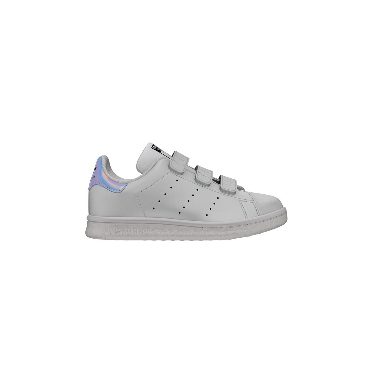 Basket Stan Smith 3 velcros blanc/metsil