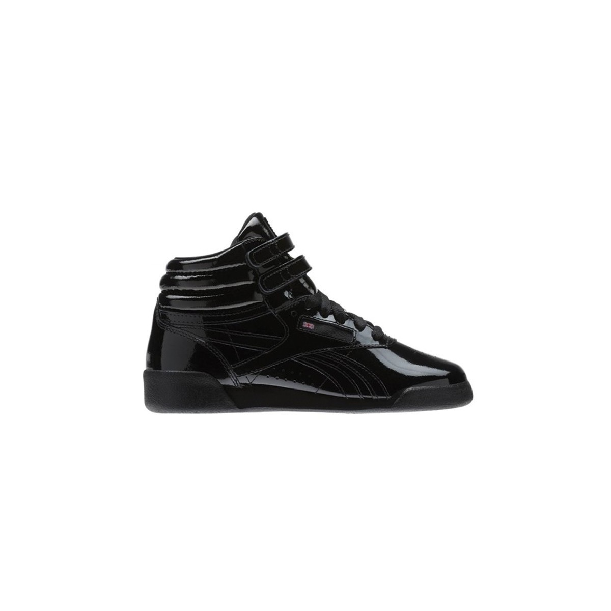f7a7ddbc9e0e5 Basket Reebok montante vernis noir