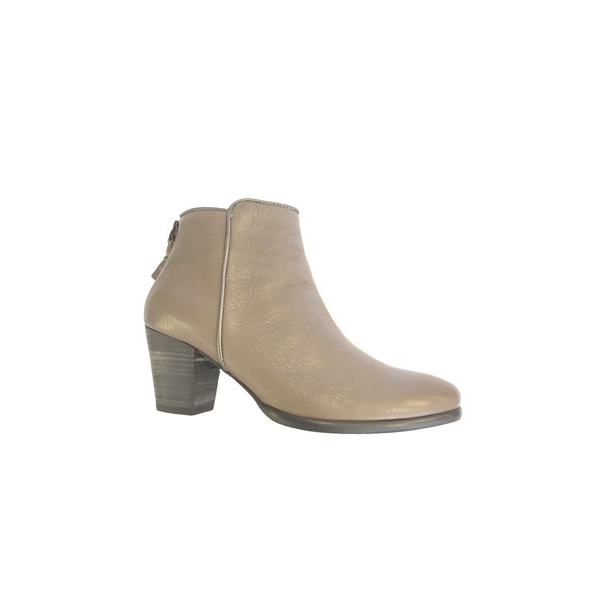 Boots MKD cuir marron glacé