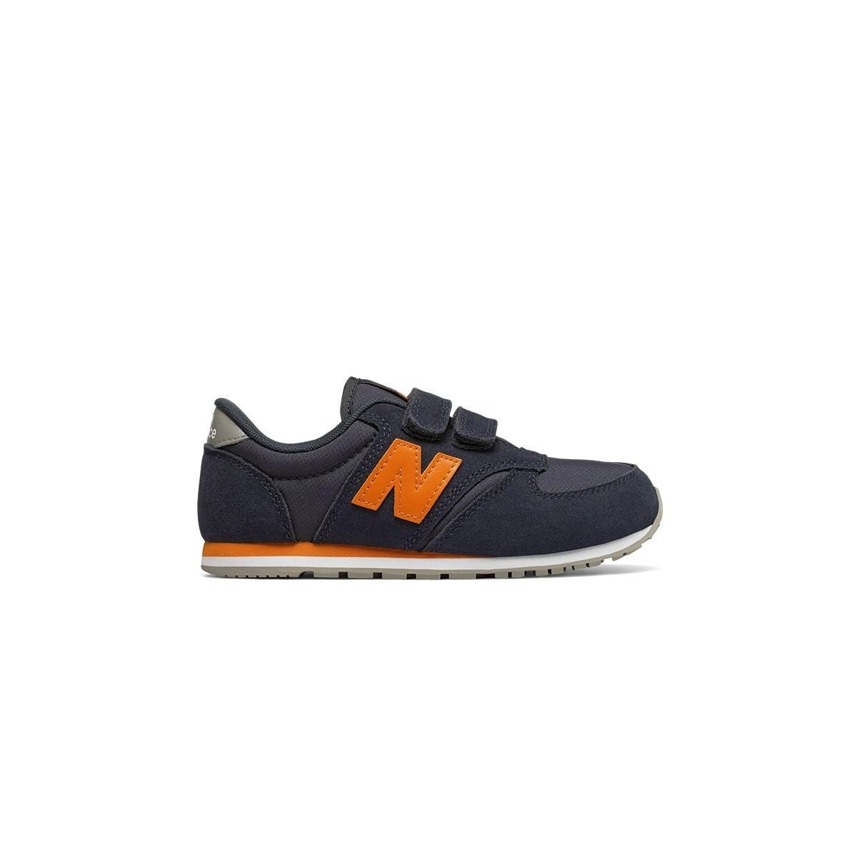 Basket New Balance 420 velcros Navy/orange