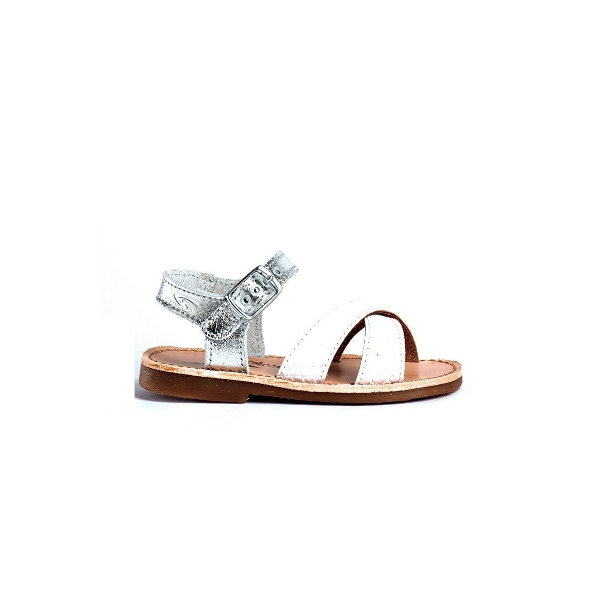 Sandale Justi Ecaille Blanc