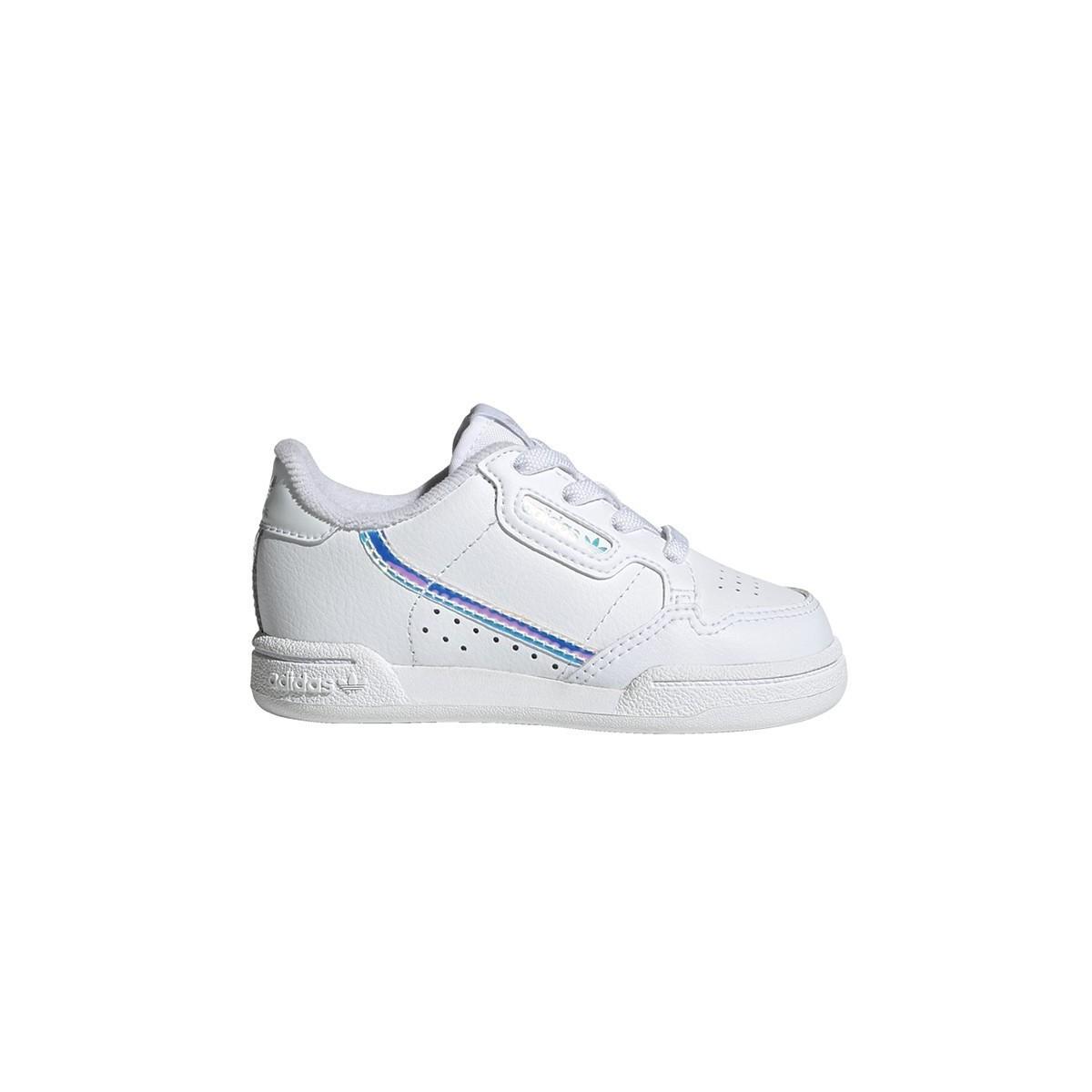 Basket Continental Lacet élastique kids blanc/miror