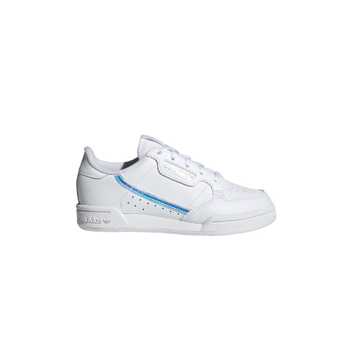 Basket Continental Lacet junior blanc/miror