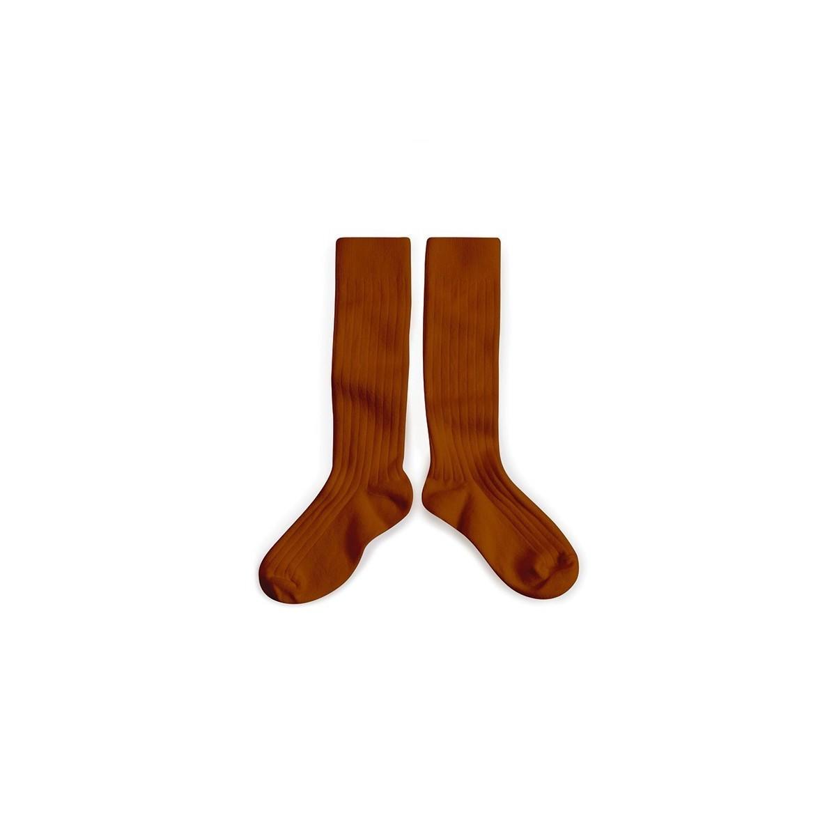 Chaussettes hautes Pain d'épice