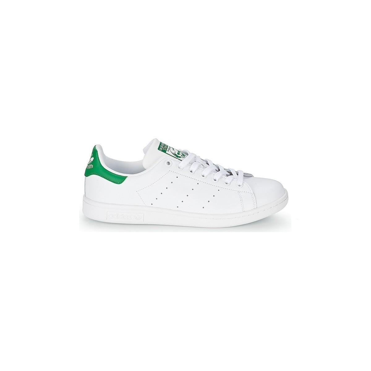 Basket Stan Smith lacets blanc/vert