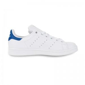 Basket Stan Smith lacets blanc/bleu