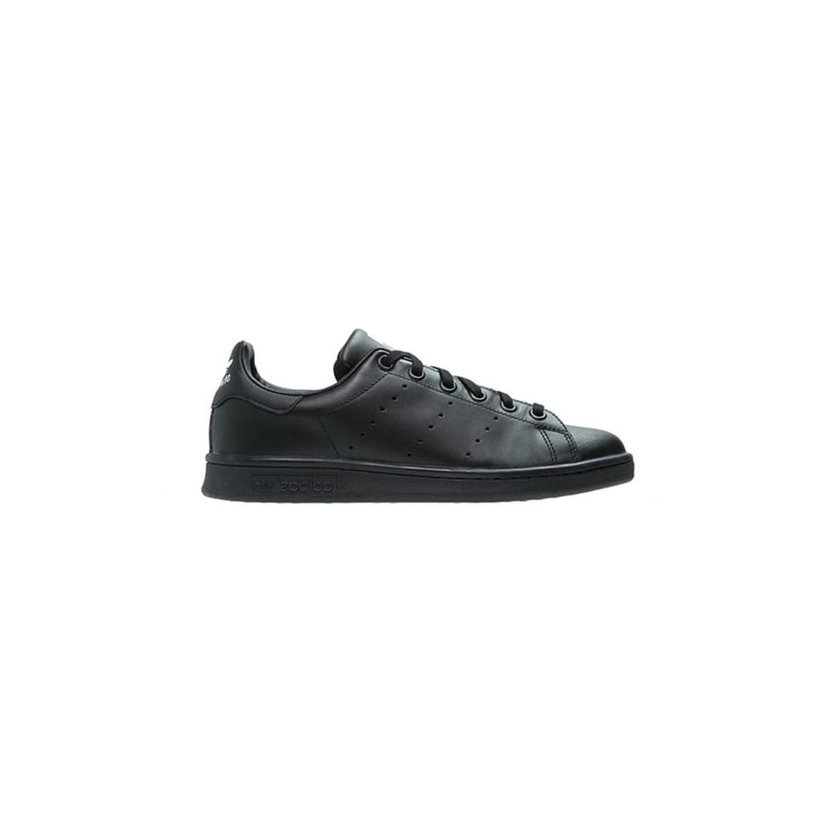 Basket Stan Smith lacets noir/noir