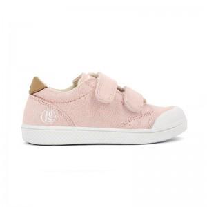 Basket Ten V 2 velcros toile glitter rose