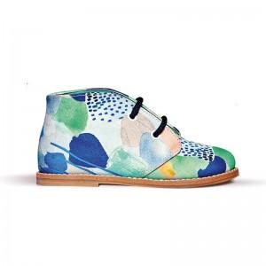 Chaussure desert boot Birk lacets imprimé multicolore
