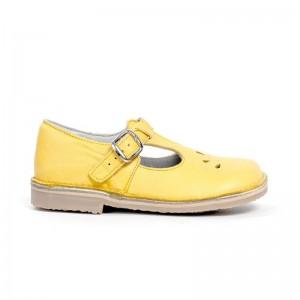 Salomé basse Knepp boucle cuir jaune