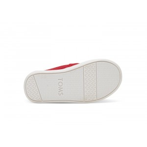 Chaussure toile rouge velcro kids