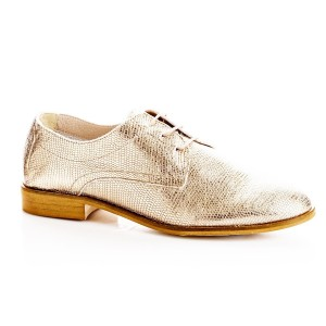 Derby Olbia lacets cuir Champagne rosé