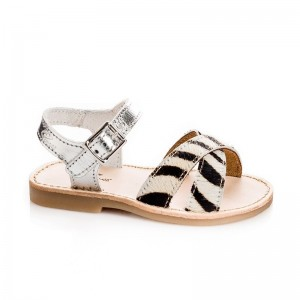 Sandale Justi peau zèbre