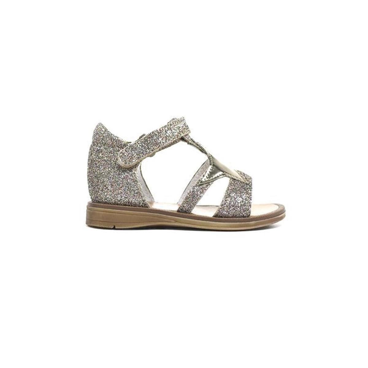 Sandale montante cuir paillette multi
