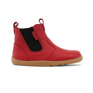Boots Outback cuir rouge