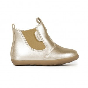 Boots Step-up Jodphur fourrée cuir gold