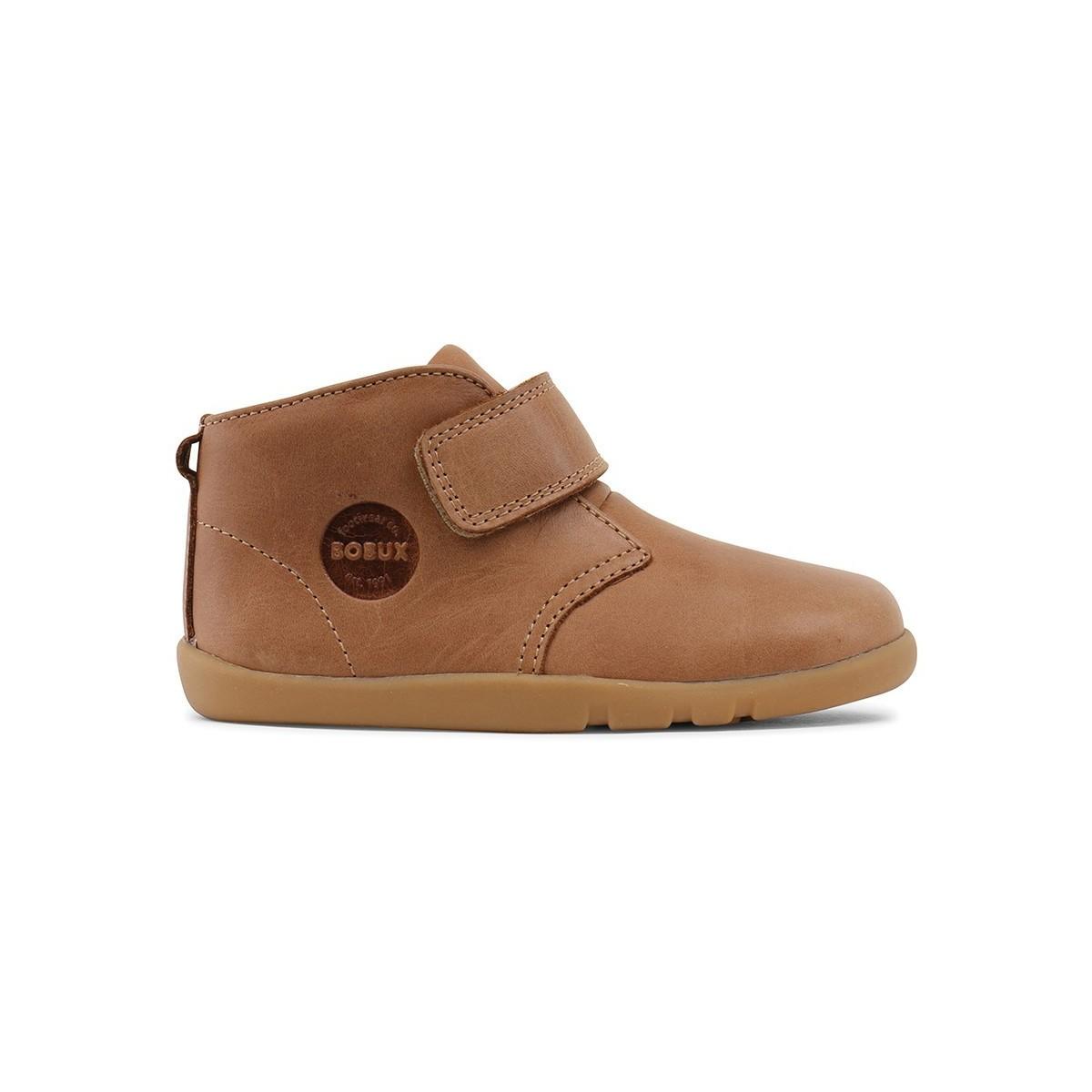 Chaussures velcro cuir beige