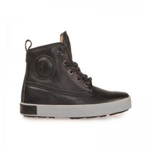 Chaussure montante cuir noir